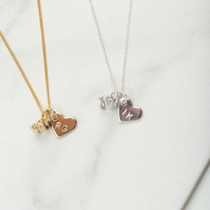 New Mum Personalised Crown Heart Necklace Gift - necklaces & pendants