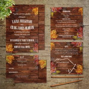 Autumn Leaves Wedding Invitations - table plans