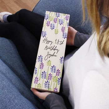 18th Birthday Wooden Bottle Box For Her