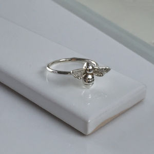 Bee Ring In Sterling Silver - rings