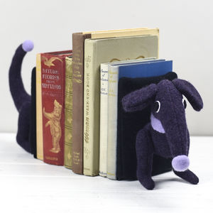 Handmade, Dachshund Book Ends, Sausage Dog Bookends - bookends