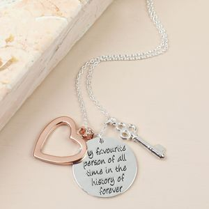 'My Favourite Person' Meaningful Words Necklace