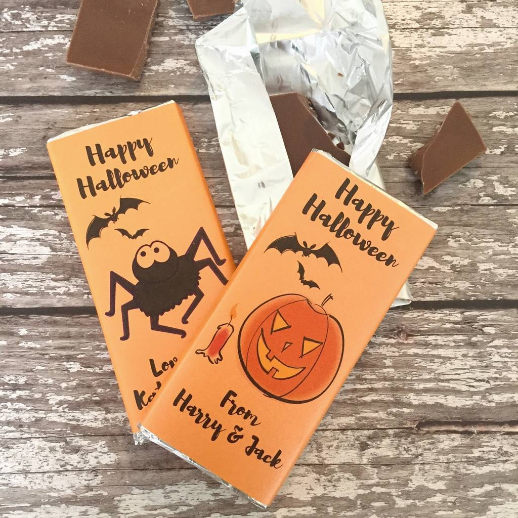 Personalised Halloween Chocolate Treats