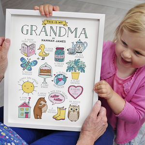 This Is My Grandma Personalised Print