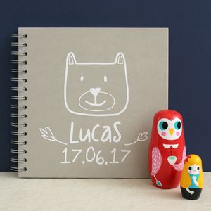 Personalised Woodland Baby Memory Book - photo albums