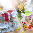 Bright Floral Table Runner