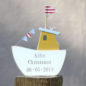 Yellow Personalised Fishing Boat