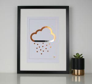 Every Cloud Has A Silver Lining Foil Print - nature & landscape