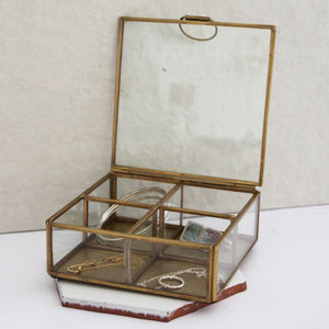 Brass Compartment Jewellery Box
