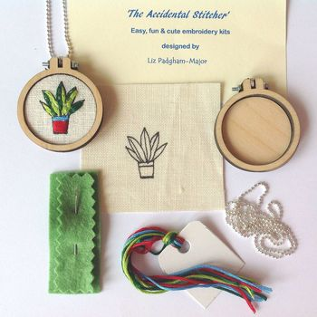 Plant Pendant Hand Embroidery Kit
