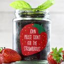 Personalised 'Don't Kill Me' Grow Strawberry Jar