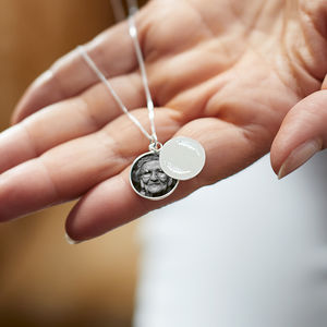 Personalised Sliding Disc Photo Necklace - necklaces & pendants