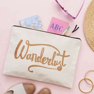 'Wanderlust' Travel Pouch - travel & luggage