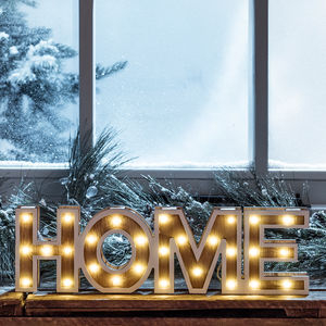 Wooden Home Sign Light
