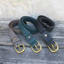 Fairtrade Handcrafted Narrow Leather Belt