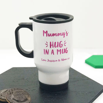 Personalised 'Hug In A Mug' Travel Mug