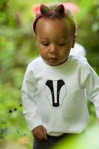 Kids Badger T Shirt - the monochrome edit