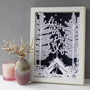 Personalised Romantic Anniversary Or Wedding Paper Cut