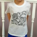 Colour In Childrens Dinosaur T Shirt