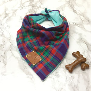 Willow Tartan Luxury Dog Bandana Neckerchief - christmas entertaining