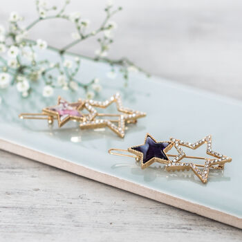 Gold Twinkle Little Star Hair Clips