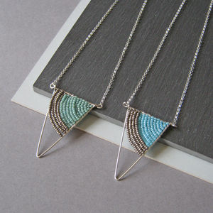 Geometric Silver Triangle Necklace - necklaces & pendants