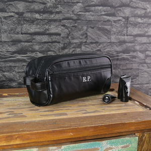 Personalised Men's Wash Bag And Towel Set - make-up & wash bags