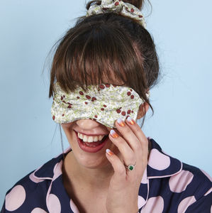Ladybird Silk Eye Mask And Matching Scrunchie Set