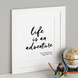 Life Is An Adventure Personalised Print