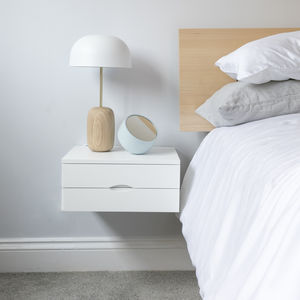 Floating Bedside Table With Double Drawer - bedside tables