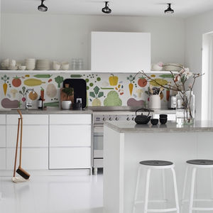 Veggies Kitchen Walls Backsplash Wallpaper - wall stickers