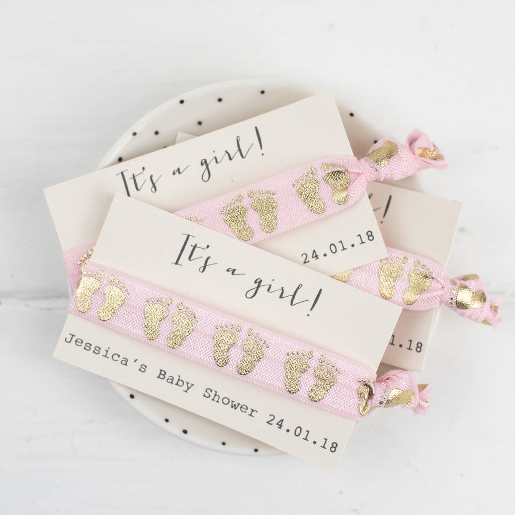personalised baby shower hair ties by emilie rose ... 3a403108445