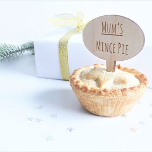 Mum's Mince Pie Personalised Mince Pie Topper - festive cake toppers