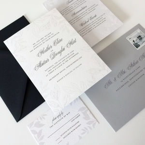 Calligraphy Wedding Invitations - wedding stationery