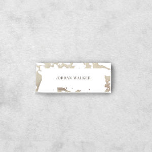 'Etched In Time' Place Cards