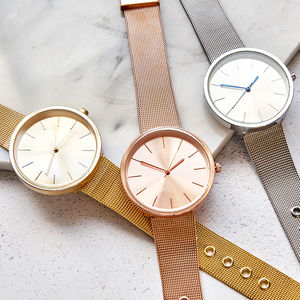 Classic Mesh Strap Watch - rose gold jewellery