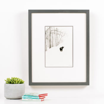 'Bear In The Woods' Children's Illustration Print