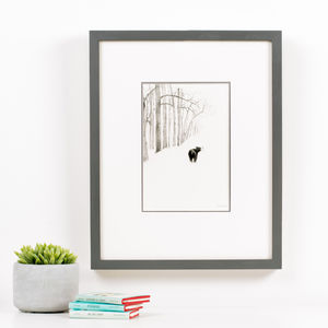 'Bear In The Woods' Children's Illustration Print - nursery pictures & prints