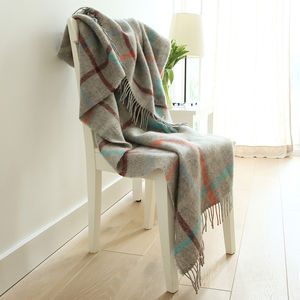 Multicolour Wool Throw Antonio - bed, bath & table linen