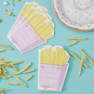 Fries Before Guys Sassy Party Paper Napkins