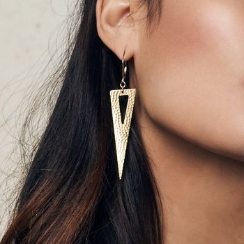 Don't Mess, Triangle Shard Earrings