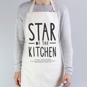 Star Of The Kitchen Apron - baking