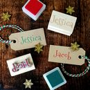 Personalised Christmas Name Rubber Stamp