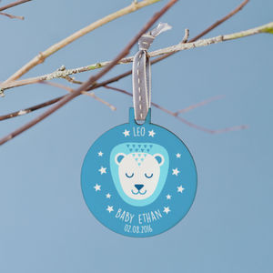 Personalised New Baby Star Sign Bauble