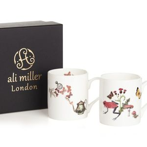 Ali Miller Two Bone China Mugs In A Gift Box