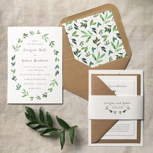 Botanical Garden Wedding Invitation - wedding stationery