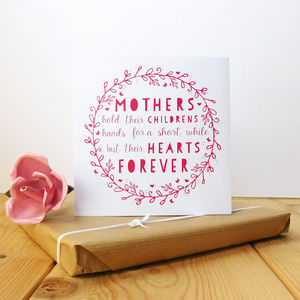 Mothers Hearts Forever Card