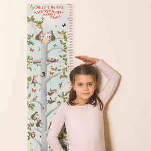 Personalised Repositionable Hedgehugs Height Chart - wall stickers