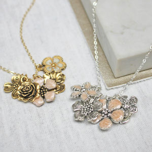 Personalised Flower Necklace - wedding fashion