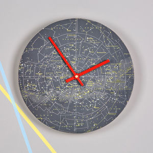Stars And Constellations Map Clock - bedroom